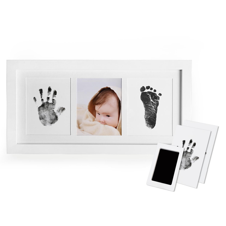 Baby Newborn Handprint Footprint Imprint Clean Touch Ink Pad Photo Frame
