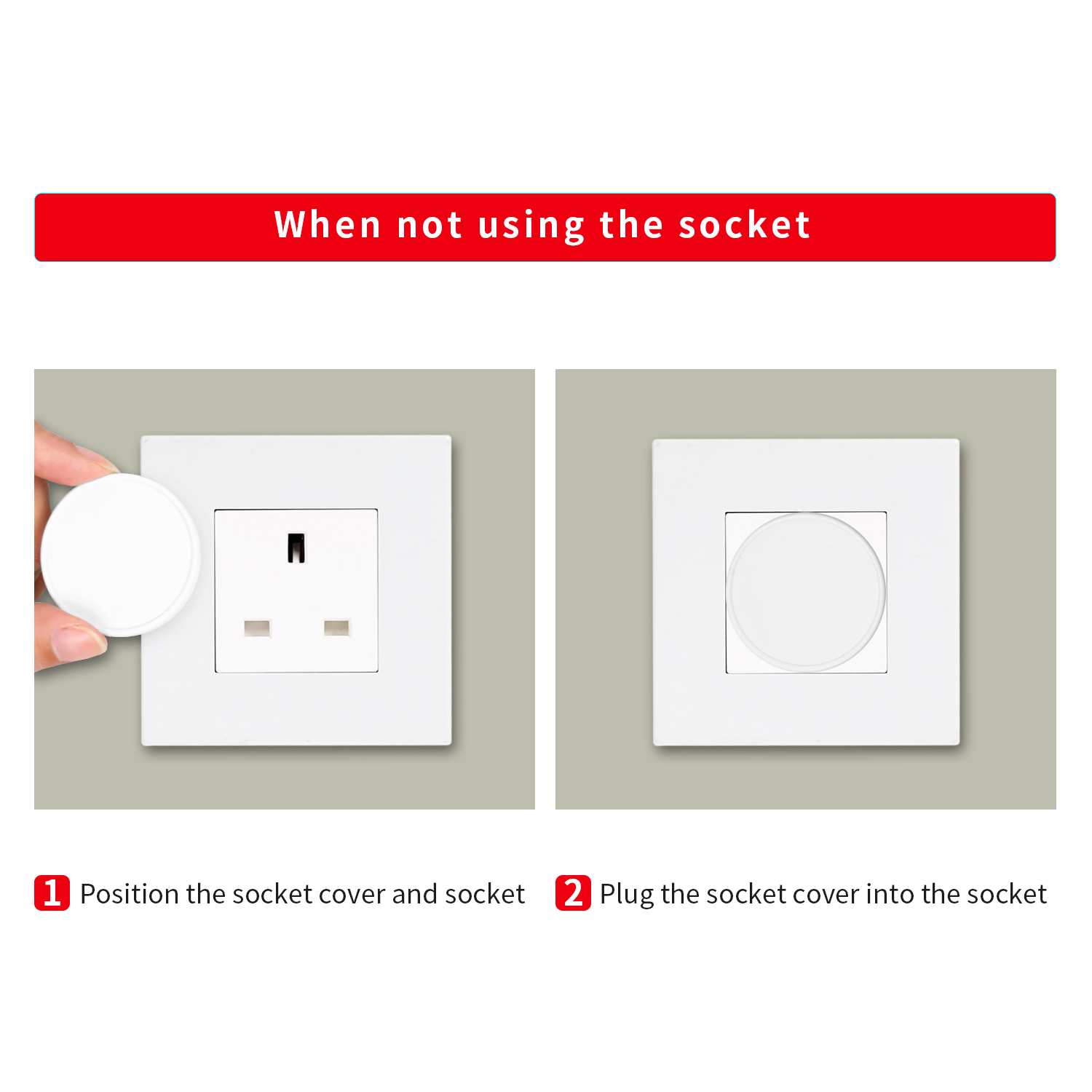 10 Packs Socket Protectors//Guards 2 X Baby Proofing Childs Home Safety Socket Covers