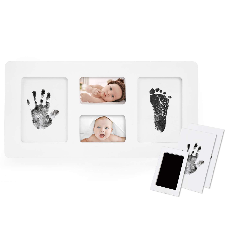 Babyhaut kommt nicht mit Farbe in Ber/ührung Upgrade Version Norjews Baby Handabdruck und Fu/ßabdruck Fotoalbum mit ZweiCleanTouch Stempelkissen das ideale Babyparty Geschenk