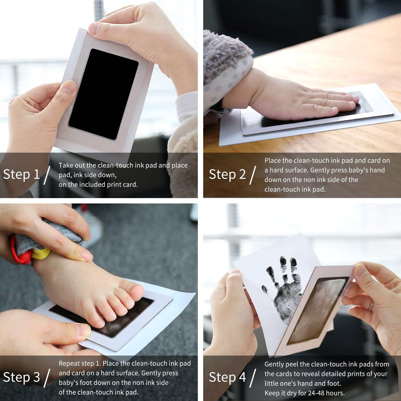 Baby Print Photo Frame Newborn Handprint Footprint Clean Touch Ink Pad Keepsake